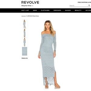 NEW House of Harlow x REVOLVE Rose Dress In Blue